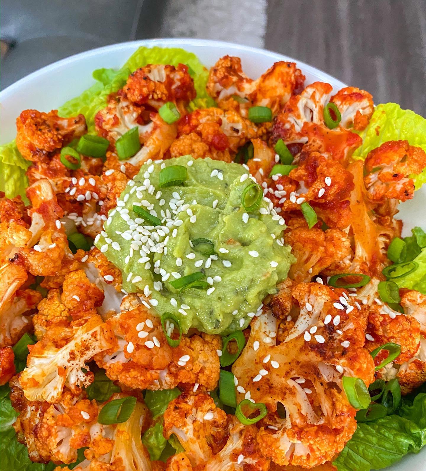 Roasted Honey & Sriracha Cauliflower