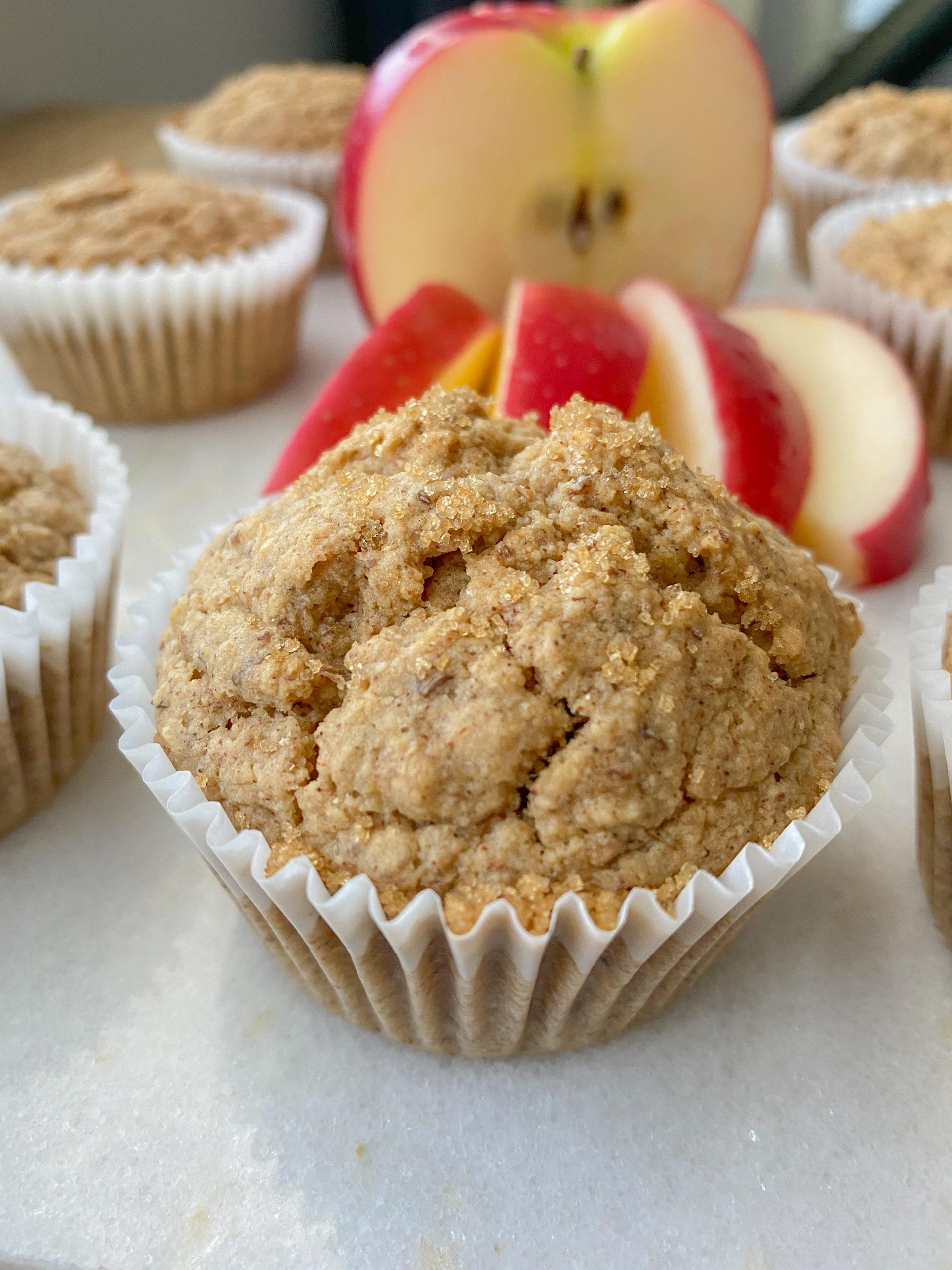 Fluffy Gluten Free Apple Cinnamon Oatmeal Muffins